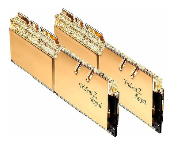 Memoria Ram 16gb G.skill Ddr4 Trident Z Royal Gold 3200mhz Pc4-25600 Cl16 1.35v Dual Channel Kit (2x8gb)