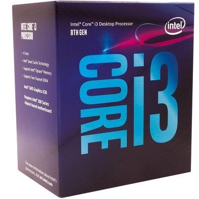 Core I3 8100 Lga Socket 1151 3.60 Ghz Box Na Caixa Lacrado