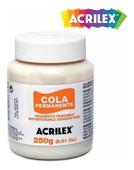 Kit Com 05 Cola Permanente 250g 16225 Acrilex -promoção