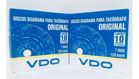 Disco De Tacógrafo Vdo 125km Semanal 10 Cx