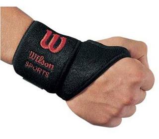 Muñequera Unisex Wilson - Soporte Para Muñeca Con Velcro Neg