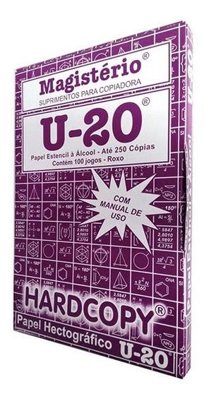 100 Folhas Papel Hectografico U-20 Tatuagem Carbono Tattoo