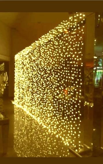 Cortina 500 Leds 3,0x2,5m Luz Branco Quente Decor Festa