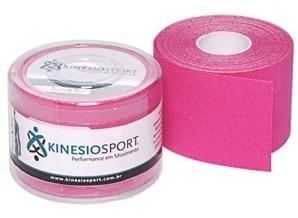 Bandagem Elástica Adesiva Rosa Kinesiosport 5cmx5mts