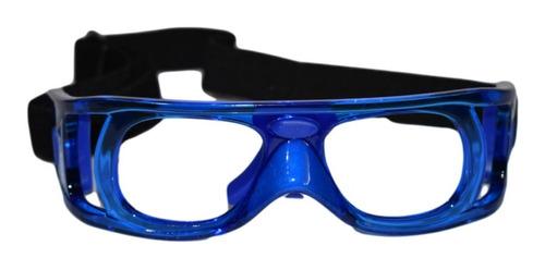 Imagen 1 de 6 de Lentes Goggles Protectores Master Pro Frontenis Azul