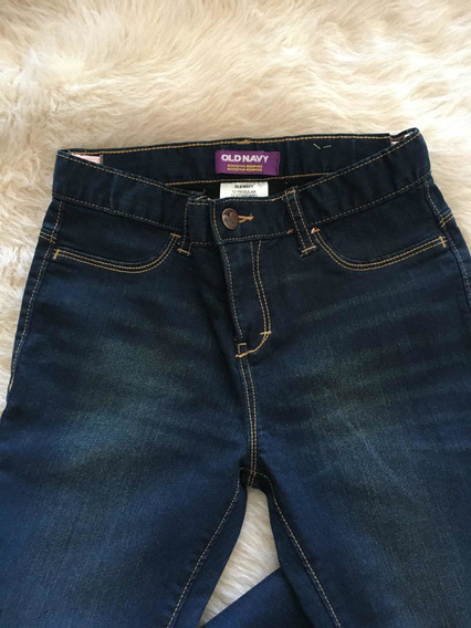 Pantalon De Jean Nena Super Elastizado Azul Impec Old Navy