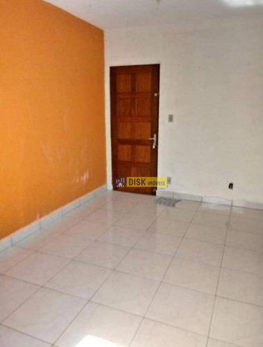 Apartamento Com 2 Dormitórios À Venda, 54 M² Por R$ 200.000,00 - Jardim Irajá - São Bernardo Do Campo/sp - Ap1354