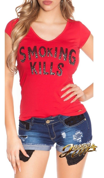 Koucla Remera T-shirt Con Print Y Skull !!!