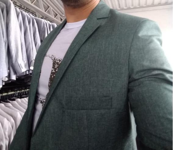 Ternos Masculino Verde Musgo Foto Real Terno Slim