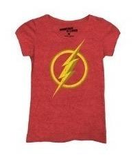 Playera The Flash Logo Para Mujer Marca Máscara De Látex.