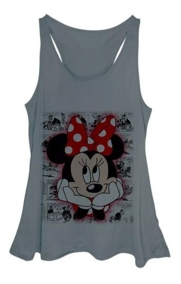 Blusa Regata Feminina Plus Size Minnie Hq Love Vintage Rosa