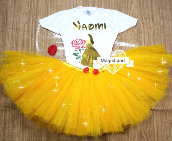 Tutu De Princesas Con Glitter Para Niña De 3 Meses A 5 Años