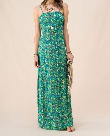 Vestido Cantão Boutique Longo Floral Verde Tam G Com Tag