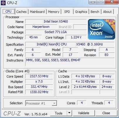 Xeon 5460 Lg771 + Placa Mãe Positivo Adaptado