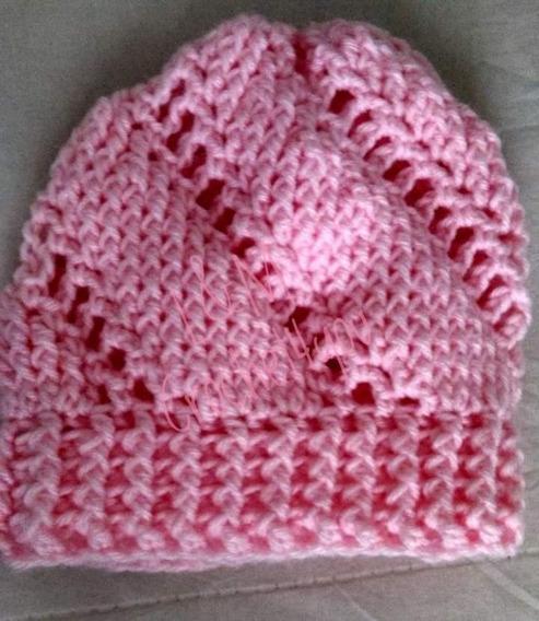 Gorrito Tejido A Crochet Para Nena