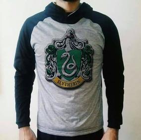 Casaco Slytherin Com Capuz - Blusa De Frio Harry Potter