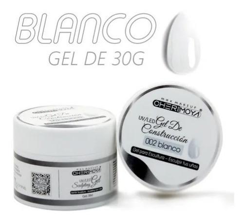 Gel Uv/led Para Construcción De Uñas #02 Blanco 30ml