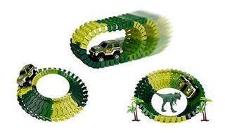 Hf Pista Armable Dinosaurio Flexible 81136 Carrito Eléctrico