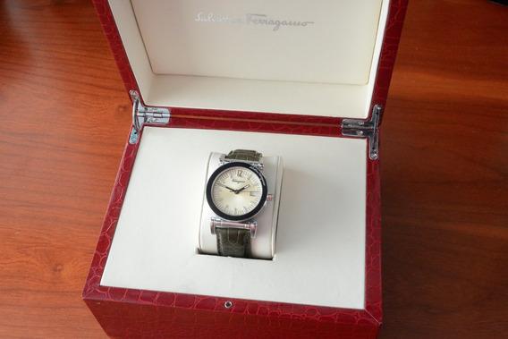 Reloj Salvatore Ferragamo F-50 Acero Y Piel