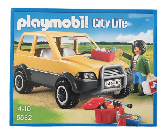 Playmobil 5532 Carro Da Veterinária City Life Geobra