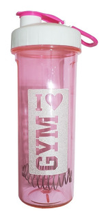 Shaker Rosa Design Vaso Gym Caramañola 750 Ml Bpa Free