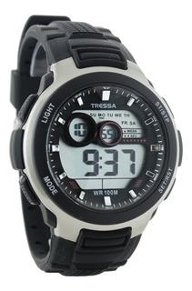 Reloj Tressa Digital Hombre Sumergible 100m Garantia Oficial