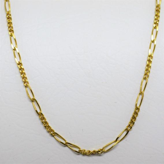 Corrente Ouro 18k Elo Fígaro 2,6g Frete Grátis