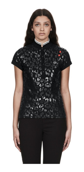 Fred Perry Sg4130 Ladies Amy Winehouse Leopard Print Polo