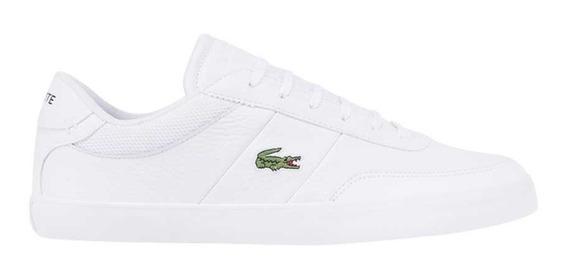 Tenis Sneakers Lacoste Court-master Blancos De Caballero