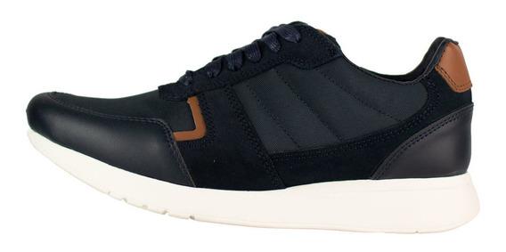Tenis Casual De Textil Y Piel Karosso Kasual Negro 4205