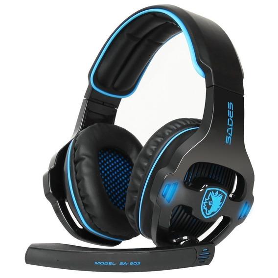 Fone De Ouvido Headset Game Sades Sa-903 7.1 Surround Stereo