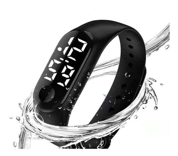 Relógio Digital Esporte Bracelete Led Adulto Infantil Masculino Feminino Barato