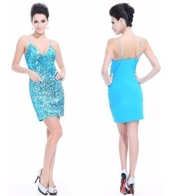 Vestido Lentejuelas Corto 3xl