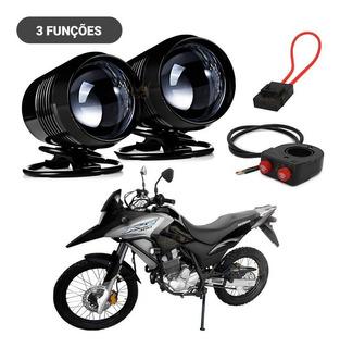 2 Farol Milha Led U2 Moto Bom P Honda Broz Xre 125 150 300cc