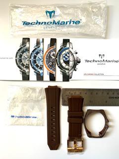 Malla De Reloj Relojes Technomarine Importada Cruise Marrón