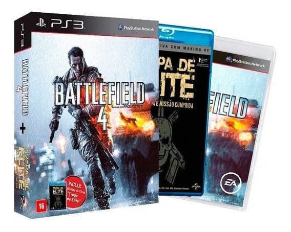 Battlefield 4 + Filme Tropa De Elite Ps3 Fisica Lacrado Nfe