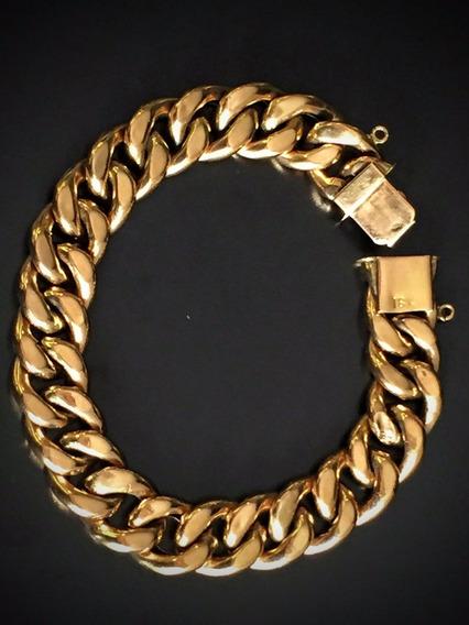 Pulseira Em Ouro 18k-750 - 24.1 Gramas 19.5 Cm.