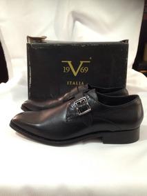 Zapato Marca Versace 1969 Italia N*44 Negro