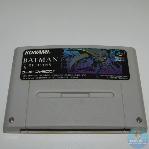 Batman Returns Snes Super Famicom 100% Original Confira !!!