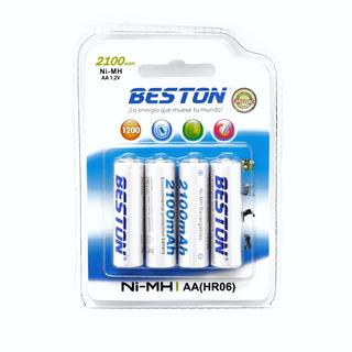 Pilas, Baterías Recargables Alta Capacidad Beston Aax4 2100m