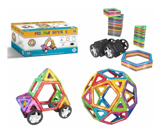 Forma Magnética, Blocos Magnético Brinquedo Educativo Imã