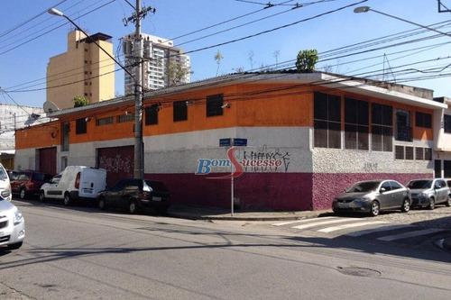 Galpão, 508 M² - Venda Por R$ 4.000.000,00 Ou Aluguel Por R$ 10.000,00/mês - Tatuapé - São Paulo/sp - Ga0204