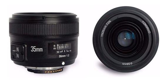 Lente Yongnuo 35mm P/ Nikon Yn35mm F2 G Foco Automático