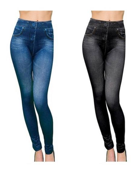 Pack 4 Calzas Slim Leggins Caresse Jeans / Mitiendacl