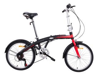 Bicicleta Plegable Dtfly Urban 2019 Shimano 6 Vel Roja