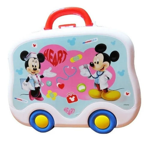 Valija Doctor Con Accesorios Mickey Minnie Disney Zippy Edu