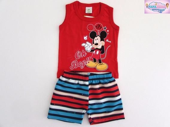 Conjunto Brandili Bebê Mickey Lançamento Imperdível Cód: 857