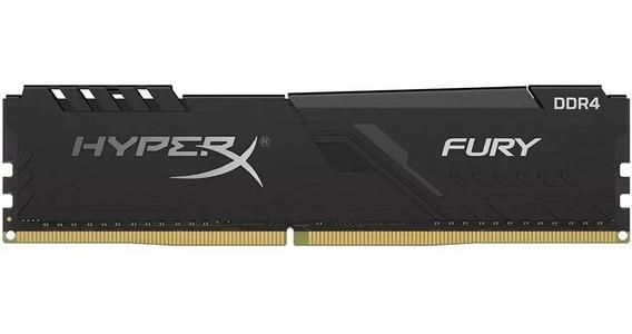 Memória Desktop Gamer Kingston Hyper X Fury 8gb Ddr4 2666mhz