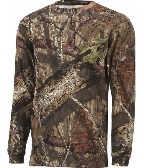 Camisa Hombre Manga Larga Camo Mossy Oak Camuflaje Caceria
