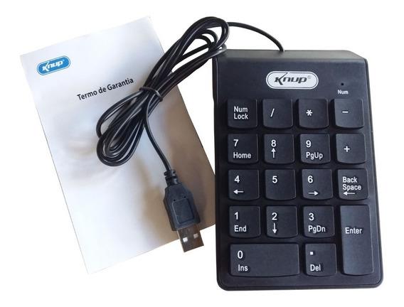 10 Teclado Numérico Com Fio Usb 2.0 Knup 2003 Mercado Livre